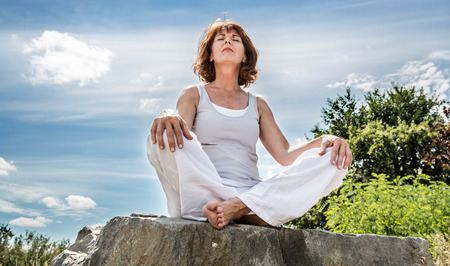 Woman Meditating from William Sinclair The Real Truth About You Podcast